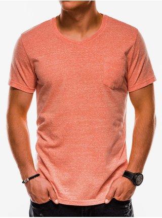 Pánske tričko bez potlače S1045 - oranžové