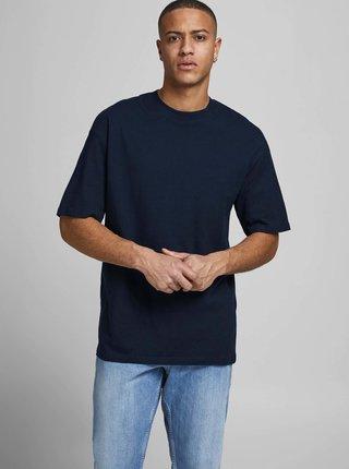 Tmavomodré basic tričko Jack & Jones Brink Tee