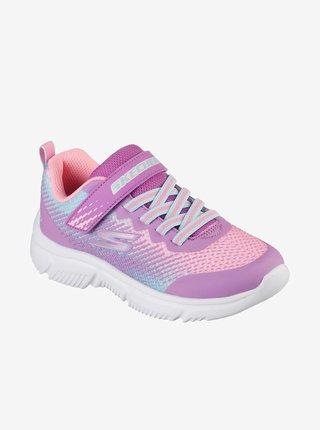 Růžovo-fialové holčičí tenisky Skechers