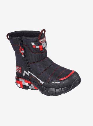 Čierne chlapčenské zimné topánky Skechers