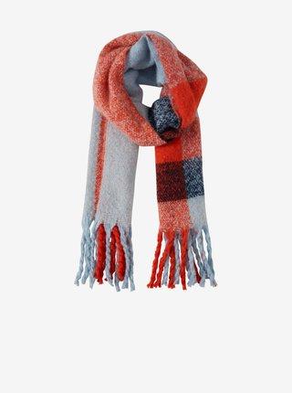 Šatky, šály pre ženy ICHI - modrá, oranžová