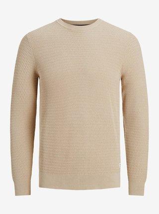 Béžový basic sveter Jack & Jones Marlow