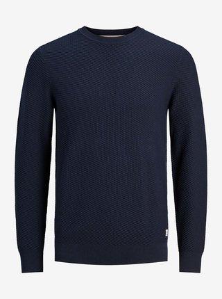 Tmavomodrý basic sveter Jack & Jones Marlow