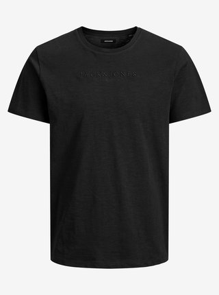Čierne basic tričko Jack & Jones Rome Tee