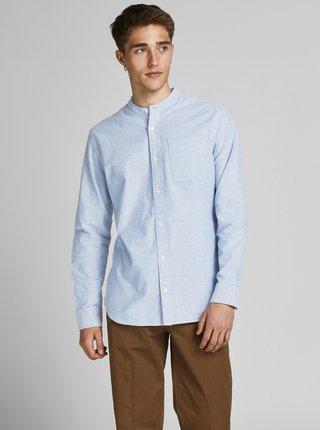 Modrá košeľa so stojačikom Jack & Jones Blubrook