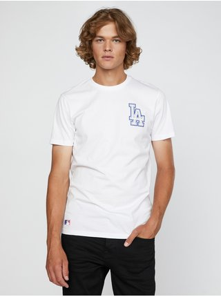 Tričká s krátkym rukávom pre mužov New Era - biela