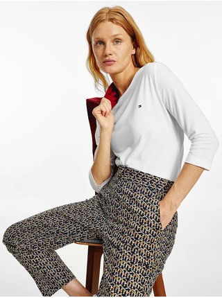 Tričká s dlhým rukávom pre ženy Tommy Hilfiger - biela