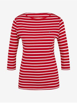 Tričká s dlhým rukávom pre ženy Tommy Hilfiger - červená
