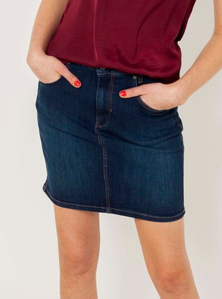 Tmavě modrá džínová sukně CAMAIEU