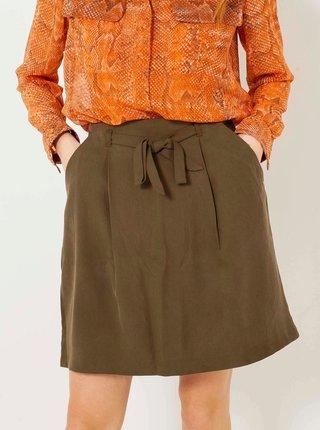 Khaki sukně CAMAIEU