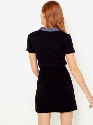Čierna zavinovacia sukňa CAMAIEU