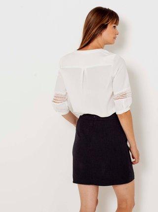 Čierna sukňa s vreckami CAMAIEU