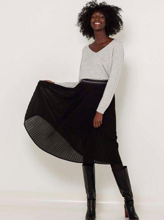 Černá plisovaná sukně CAMAIEU