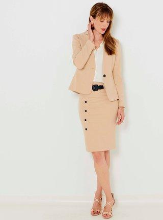 Béžová púzdrová sukňa CAMAIEU