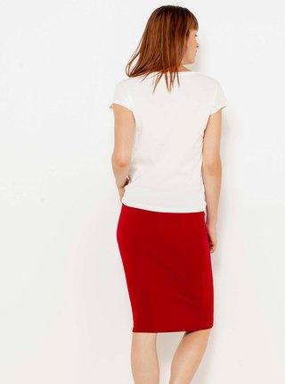 Červená púzdrová sukňa CAMAIEU