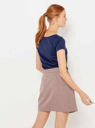 Starorůžová zavinovací sukně CAMAIEU