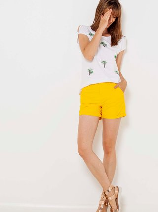 Kraťasy pre ženy CAMAIEU - žltá
