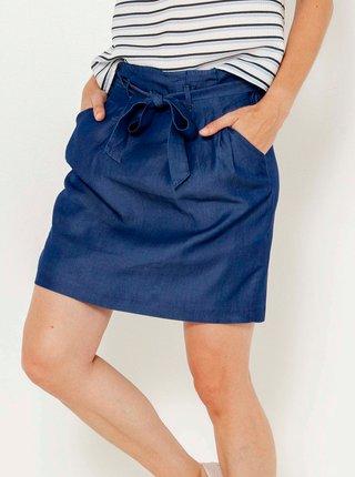 Modrá sukně s kapsami CAMAIEU