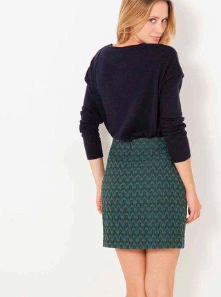 Tmavě zelená vzorovaná sukně CAMAIEU