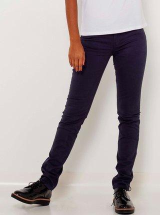 Tmavě fialové slim fit kalhoty CAMAIEU