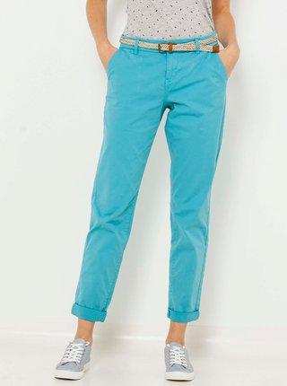 Tyrkysové zkrácené kalhoty CAMAIEU