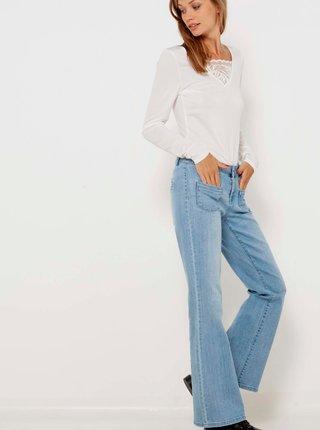 Světle modré flared fit džíny CAMAIEU