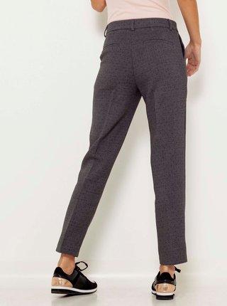 Tmavě šedé vzorované zkrácené kalhoty CAMAIEU