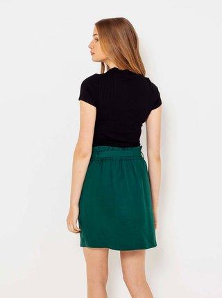 Tmavozelená sukňa s vreckami CAMAIEU