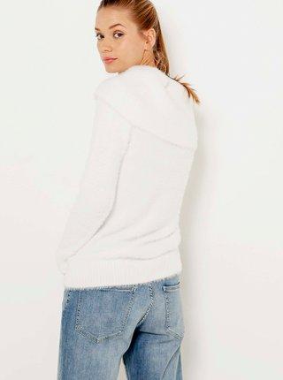 Biely sveter s limcom CAMAIEU