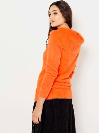 Oranžový svetr s límcem CAMAIEU