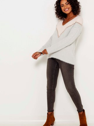 Bílo-šedý svetr CAMAIEU