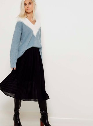 Bílo-modrý svetr CAMAIEU