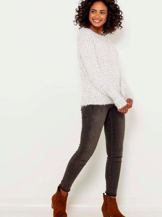 Svetlošedý žíhaný sveter CAMAIEU