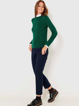 Tmavě zelený svetr se stojáčkem CAMAIEU