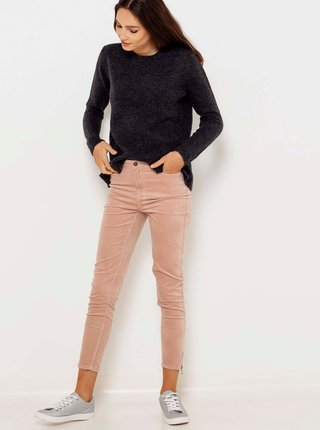 Čierny žíhaný sveter CAMAIEU