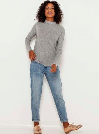 Šedý žíhaný sveter CAMAIEU