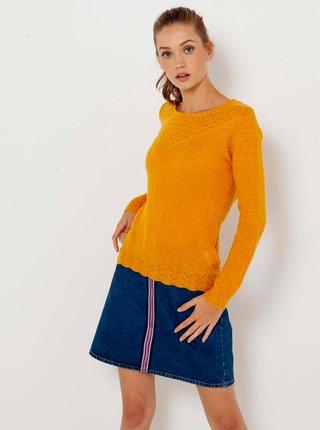 Oranžový svetr CAMAIEU