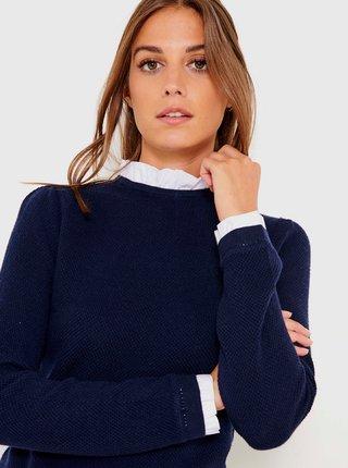 Tmavě modrý svetr se stojáčkem CAMAIEU