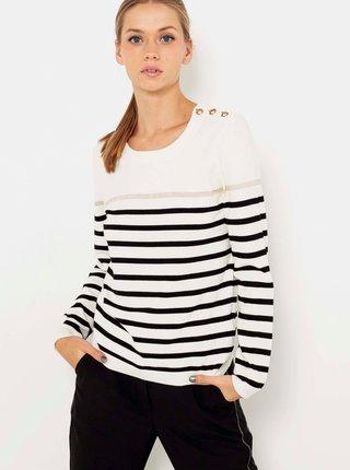 Čierno-biely pruhovaný sveter CAMAIEU