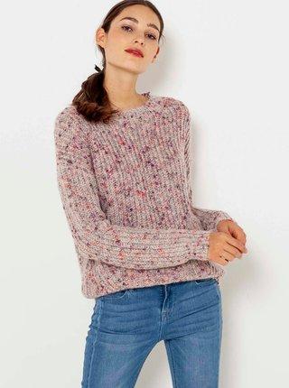 Ružový vzorovaný sveter CAMAIEU