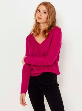 Tmavě růžový svetr CAMAIEU