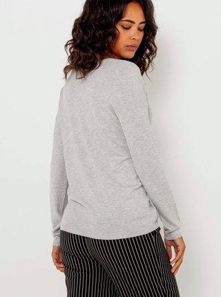 Světle šedý lehký svetr CAMAIEU