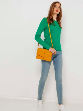 Zelený lehký svetr CAMAIEU