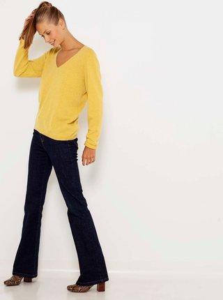 Žlutý kašmírový svetr CAMAIEU