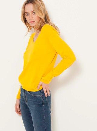 Žltý ľahký sveter CAMAIEU