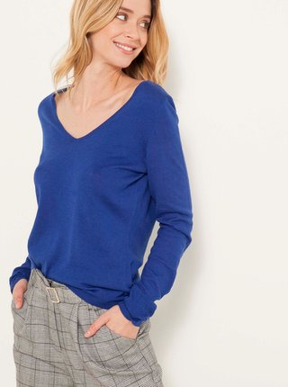 Modrý lehký svetr CAMAIEU