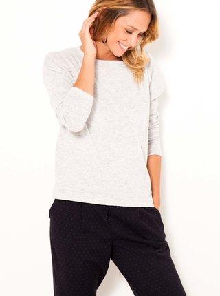 Svetlošedý basic sveter s prímesou vlny CAMAIEU