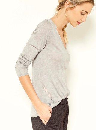 Svetlošedý basic sveter CAMAIEU