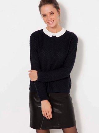 Tmavomodrý sveter s limcom CAMAIEU