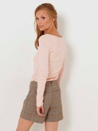 Světle růžové basic tričko CAMAIEU
